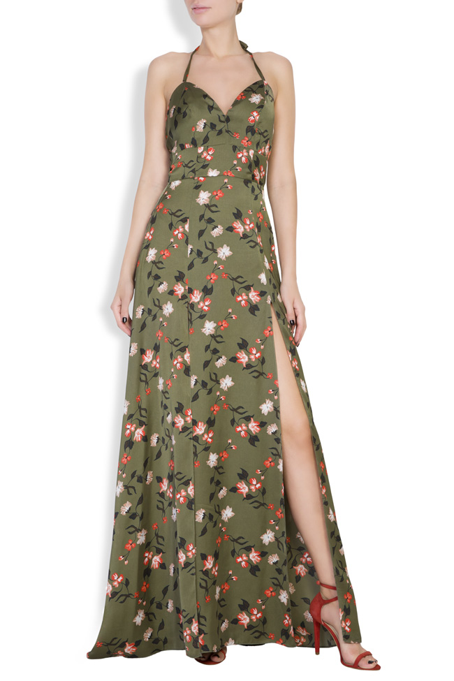 Rochie maxi cu imprimeuri florale  Monarh imagine 0