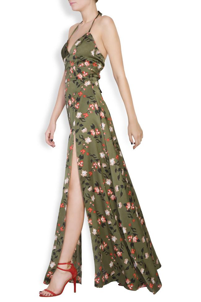 Rochie maxi cu imprimeuri florale  Monarh imagine 1