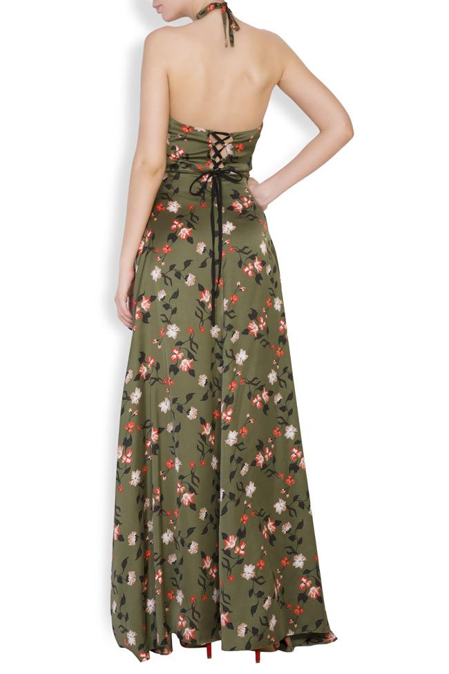 Rochie maxi cu imprimeuri florale  Monarh imagine 3