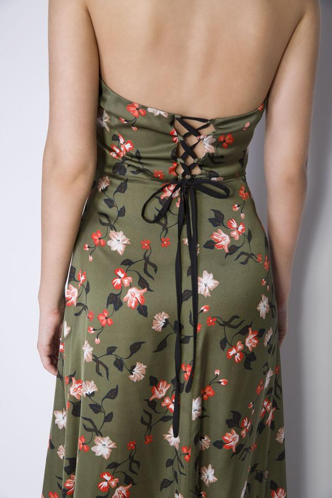 Rochie maxi cu imprimeuri florale  Monarh imagine 4