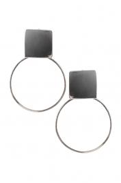 Monom Plattitude Circled silver earrings
