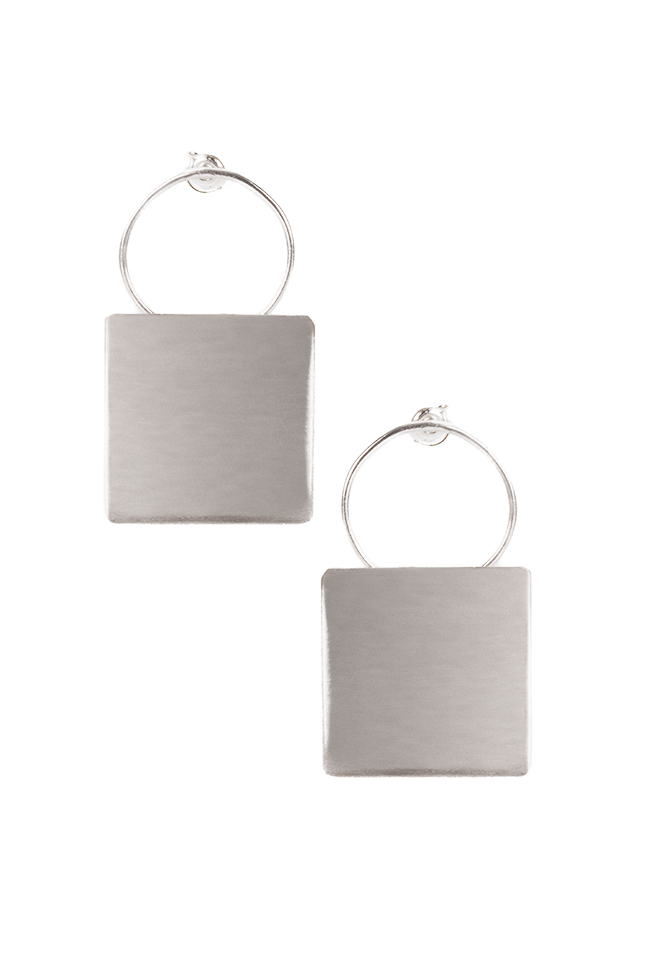 Plattitude Combo silver earrings Monom image 0