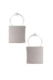 Monom Plattitude Combo silver earrings