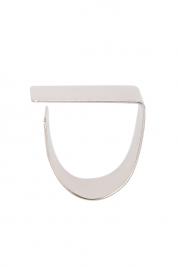 Monom Platitude Square silver ring