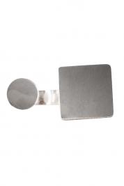 Monom Plattitude Circle silver ring