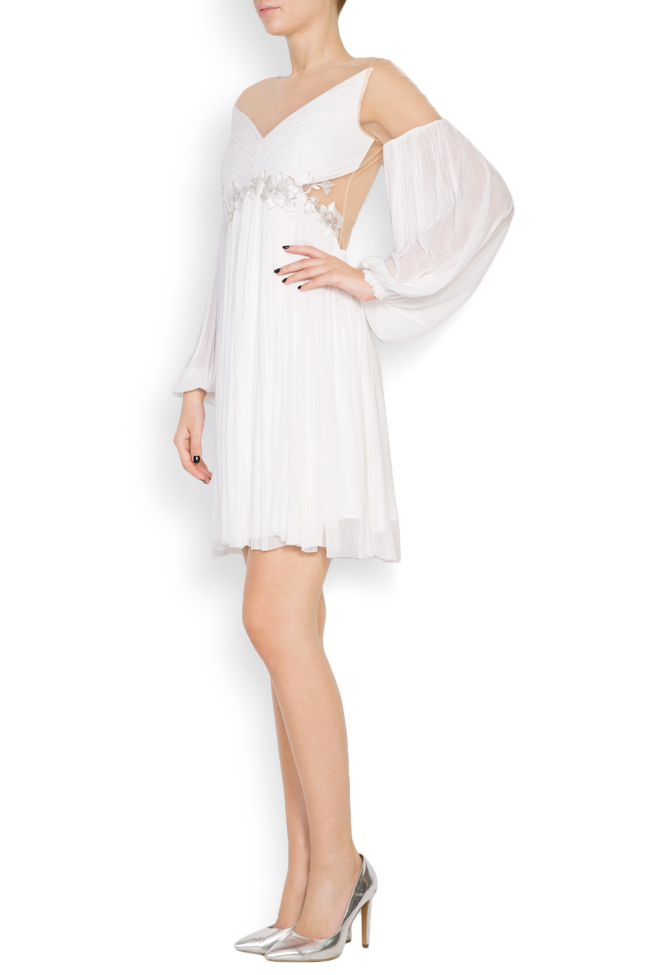 Robe en soie et tulle brodé avec dentelle Paloma Maia Ratiu image 1