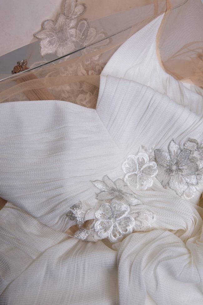 Robe en soie et tulle brodé avec dentelle Paloma Maia Ratiu image 4