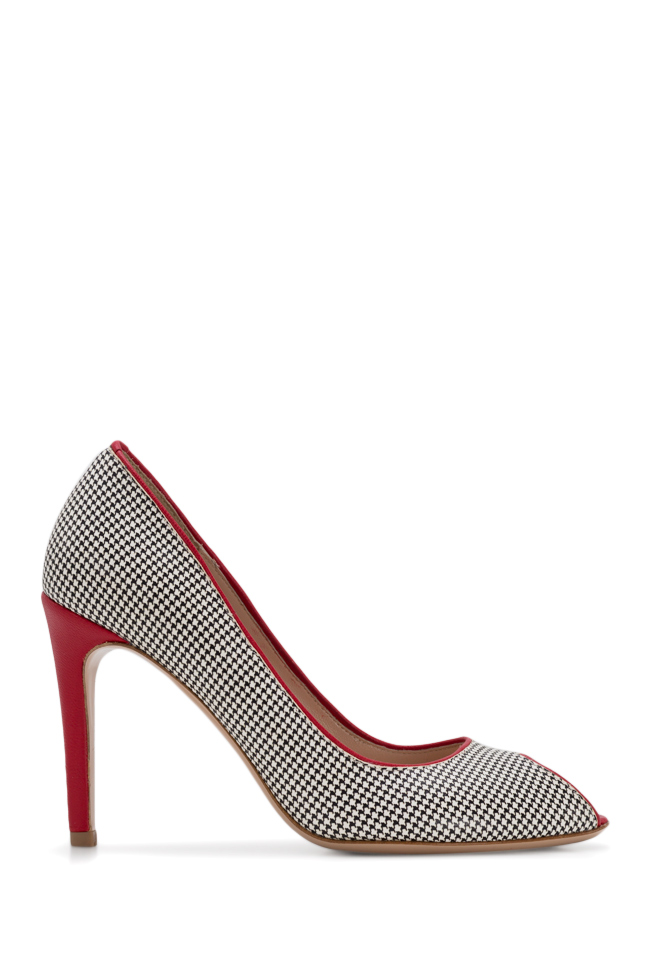 Bella90 gingham leather pumps Ginissima image 0