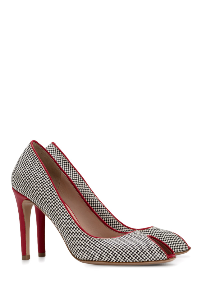 Bella90 gingham leather pumps Ginissima image 1
