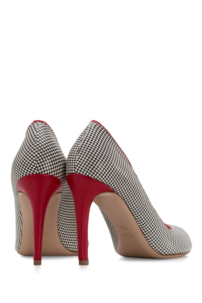 Bella90 gingham leather pumps Ginissima image 2