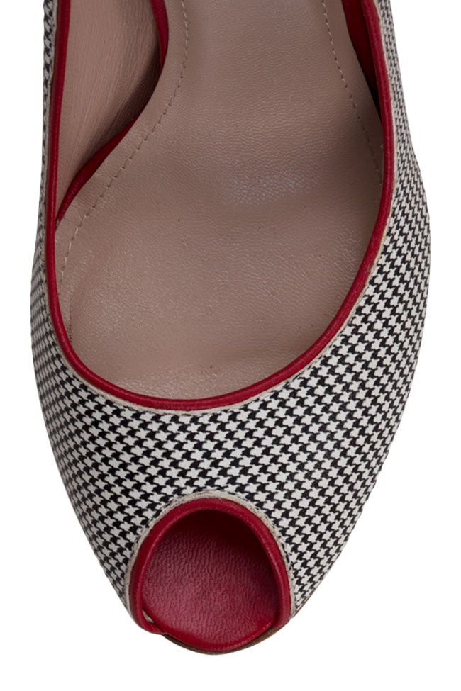 Bella90 gingham leather pumps Ginissima image 3
