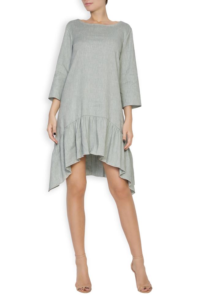 Asymmetric linen dress Bluzat image 0