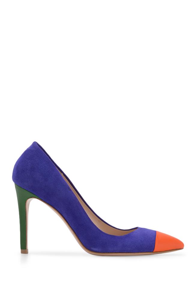 Pantofi din doua tipuri de piele Alice90 Ginissima imagine 0