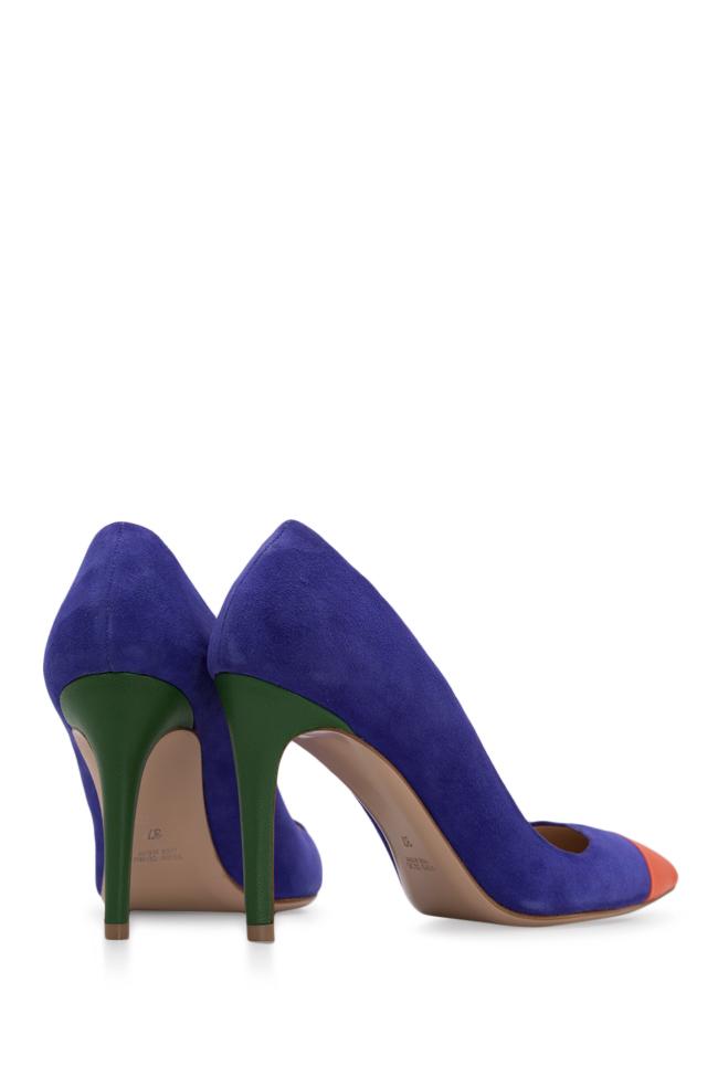 Pantofi din doua tipuri de piele Alice90 Ginissima imagine 2