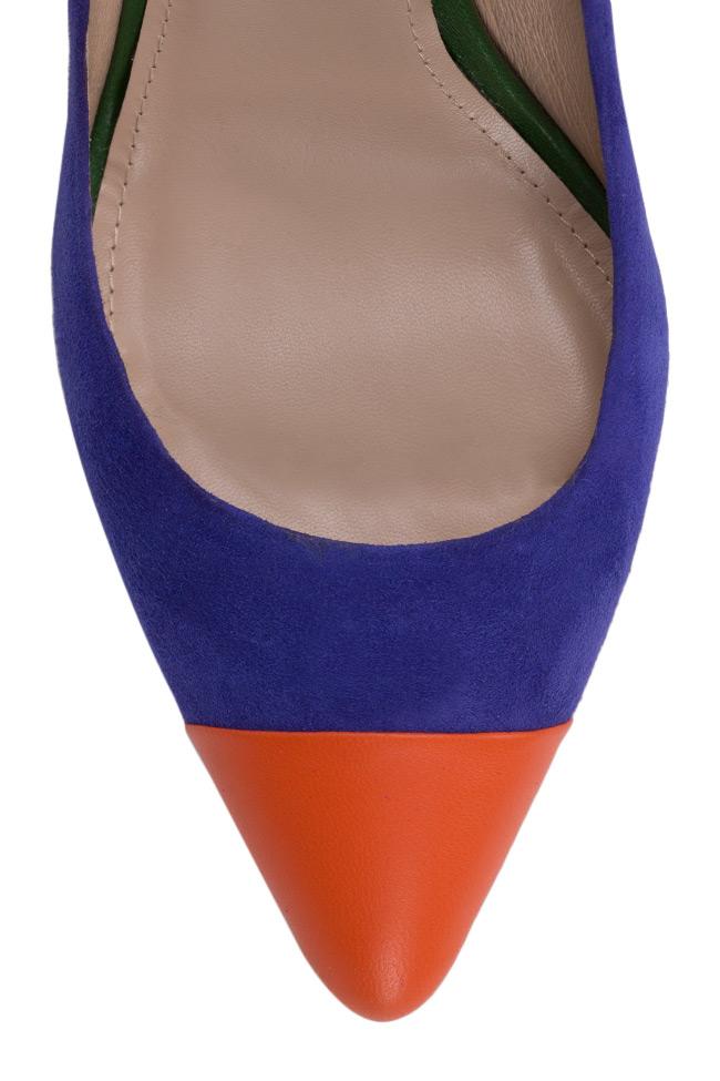 Pantofi din doua tipuri de piele Alice90 Ginissima imagine 3