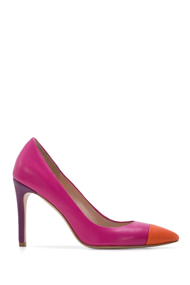 Pantofi bicolori din piele Alice90 Ginissima imagine 0