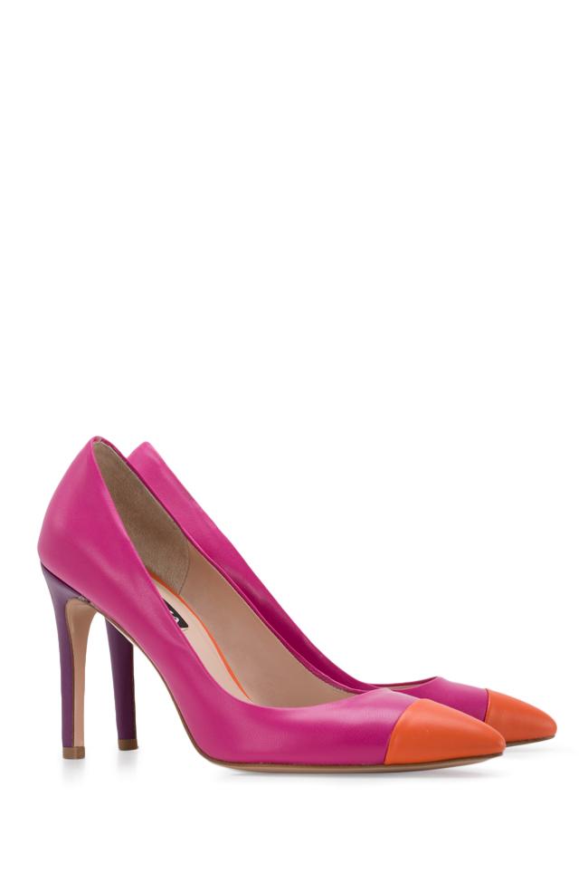 Pantofi bicolori din piele Alice90 Ginissima imagine 1