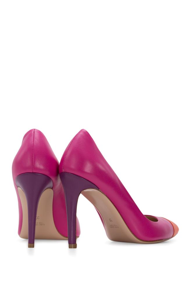 Pantofi bicolori din piele Alice90 Ginissima imagine 2