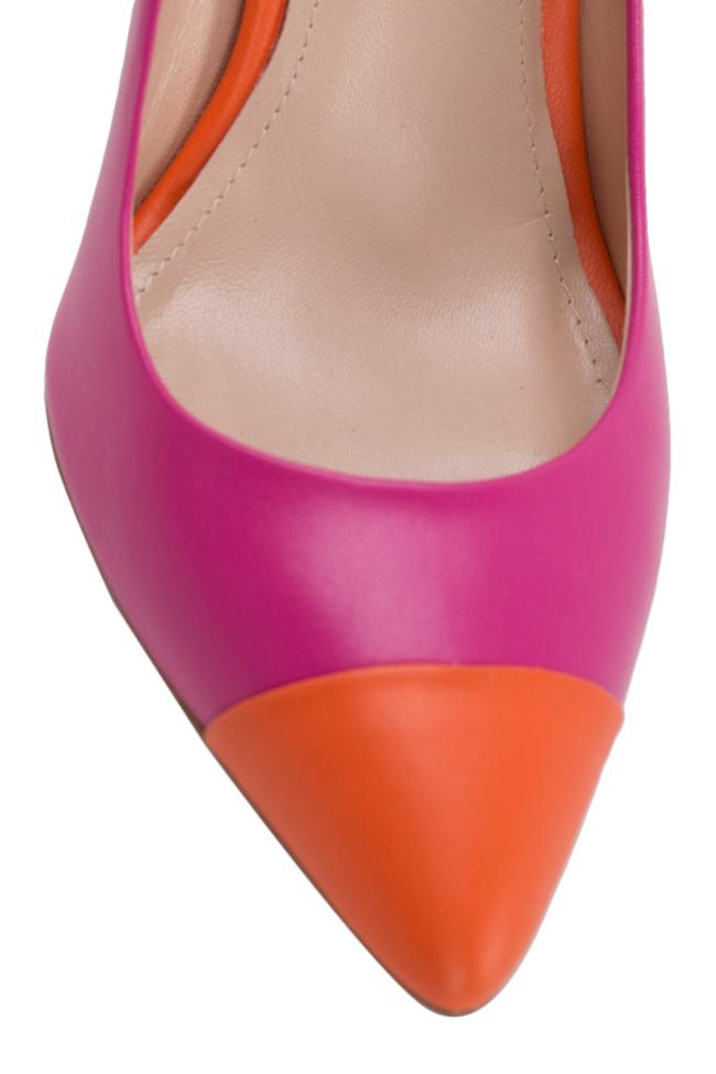 Pantofi bicolori din piele Alice90 Ginissima imagine 3