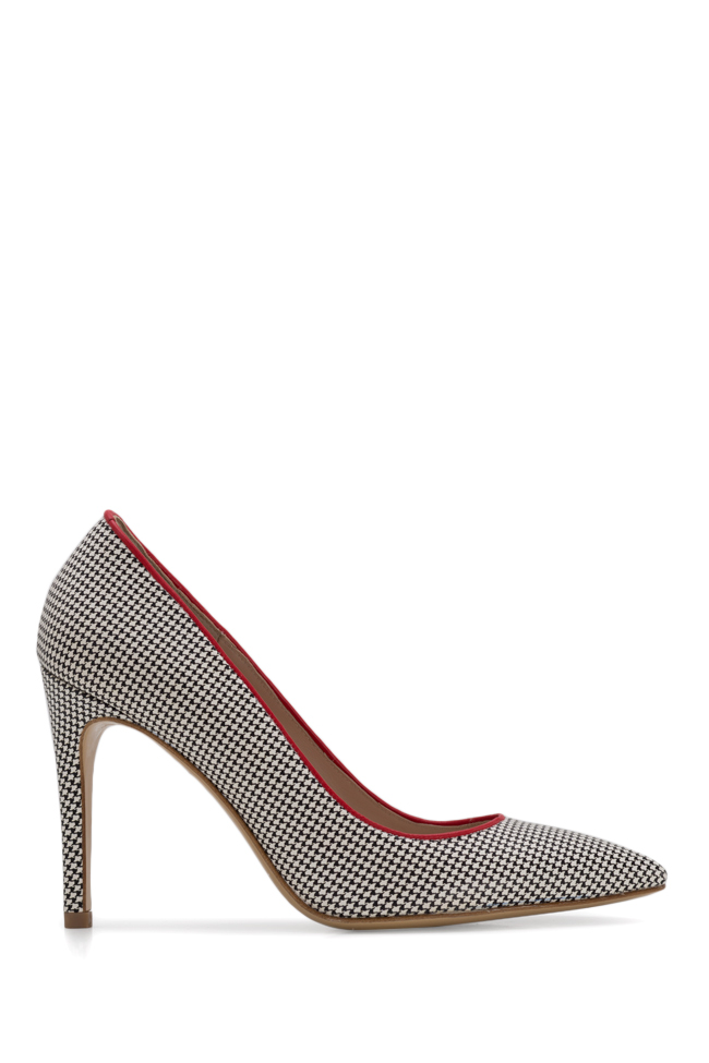 Alice90 houndstooth leather pumps Ginissima image 0