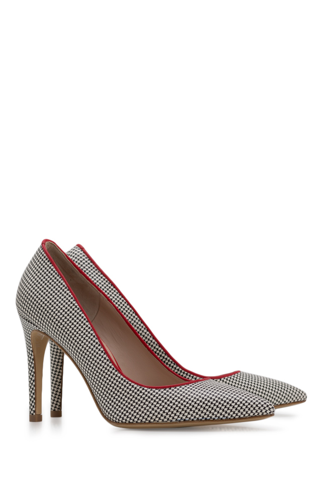 Alice90 houndstooth leather pumps Ginissima image 1