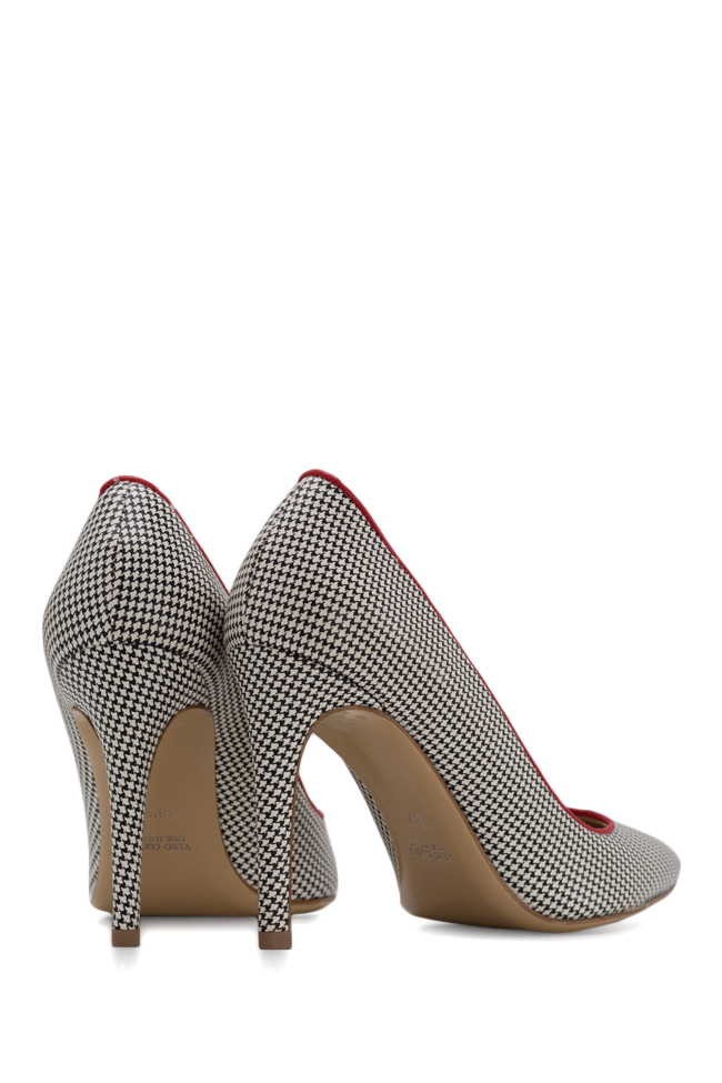 Alice90 houndstooth leather pumps Ginissima image 2