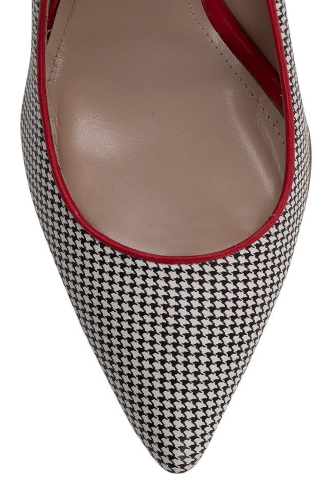 Alice90 houndstooth leather pumps Ginissima image 3