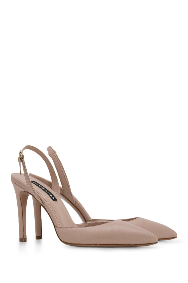 Alice75 leather slingback pumps Ginissima image 1