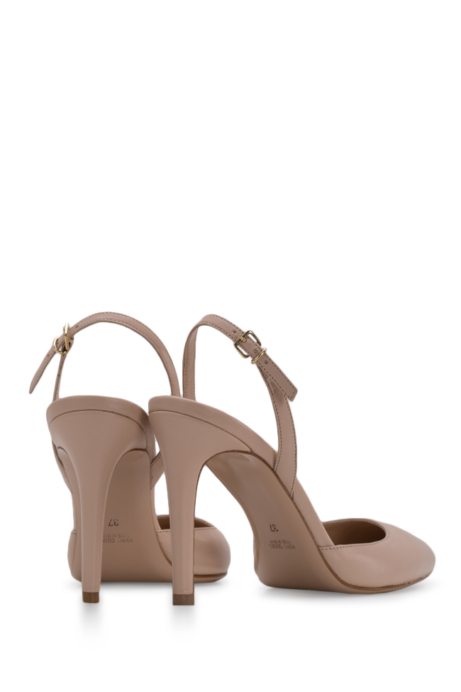 Alice75 leather slingback pumps Ginissima image 2