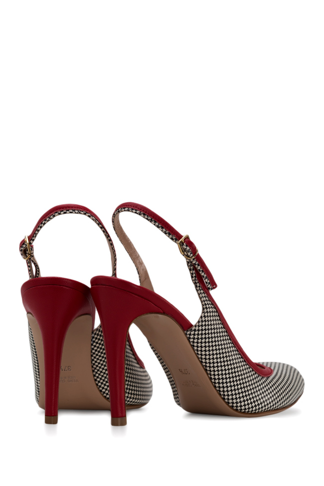 Bela90 houndstooth leather slingback pumps Ginissima image 2