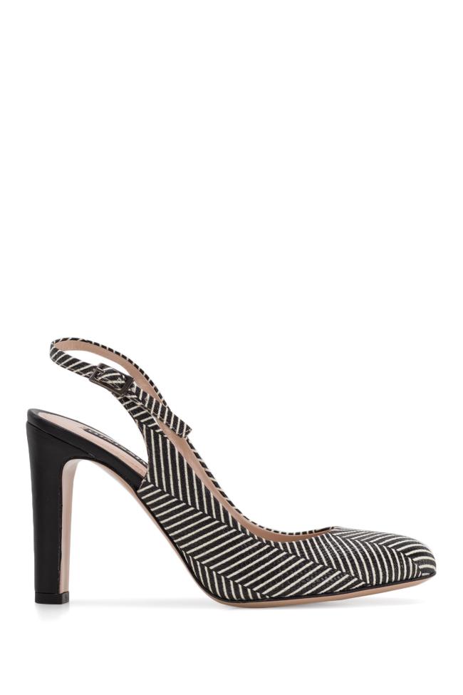 Sandale din piele imprimata cu dungi Agata90 Ginissima imagine 0