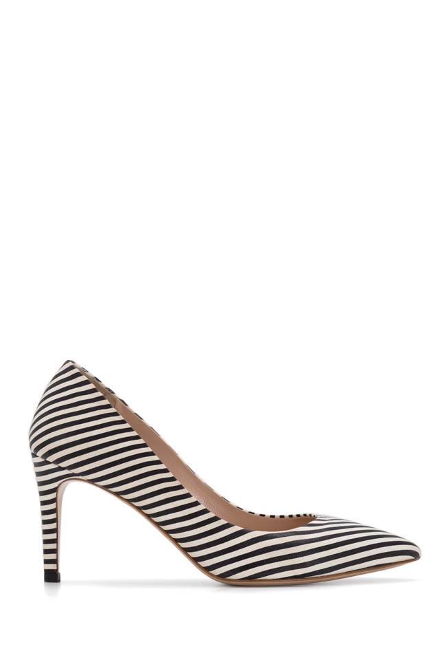Alice75 striped leather pumps Ginissima image 0