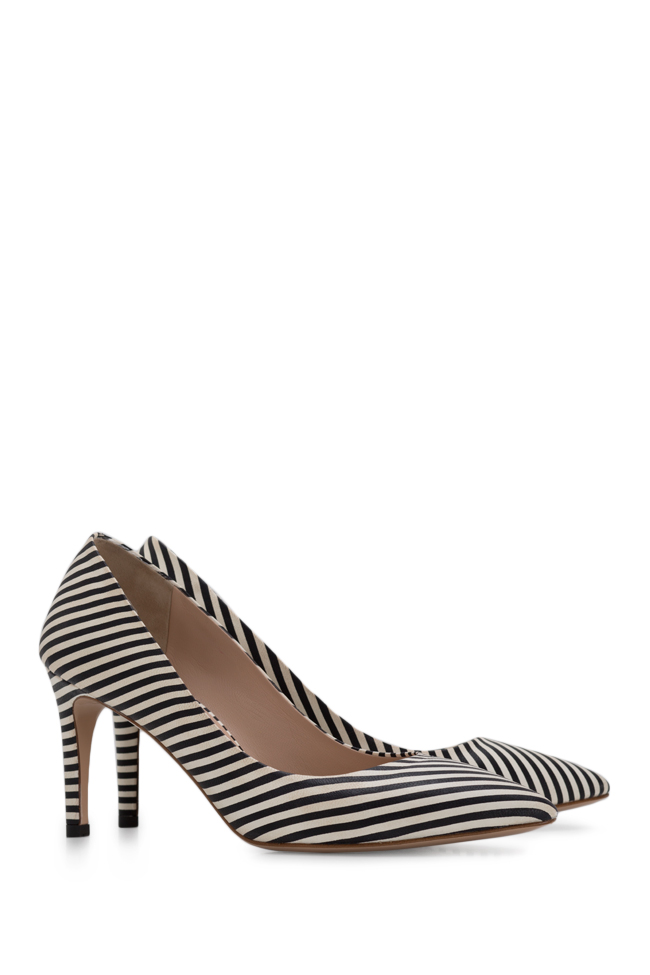 Alice75 striped leather pumps Ginissima image 1