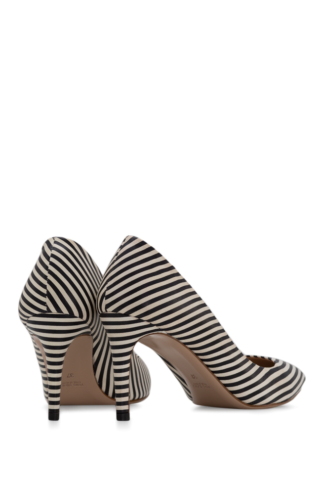 Alice75 striped leather pumps Ginissima image 2