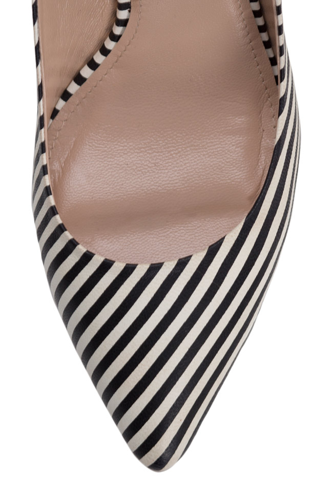 Alice75 striped leather pumps Ginissima image 3