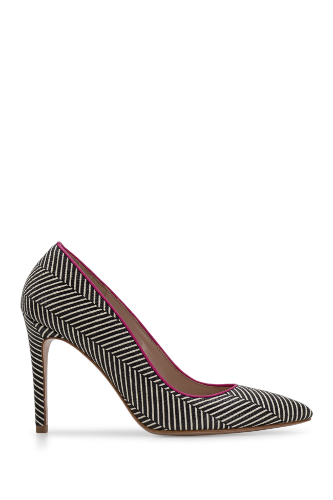 Alice90 striped leather pumps Ginissima image 0