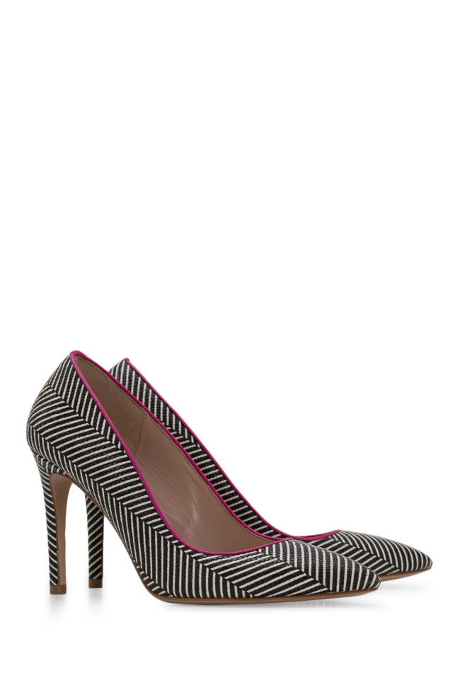 Alice90 striped leather pumps Ginissima image 1