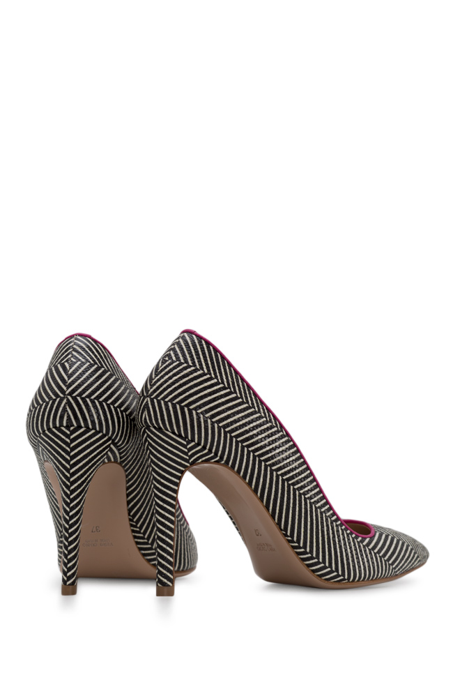 Alice90 striped leather pumps Ginissima image 2