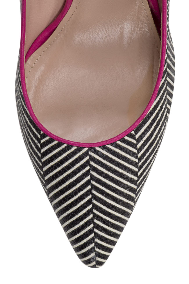 Alice90 striped leather pumps Ginissima image 3