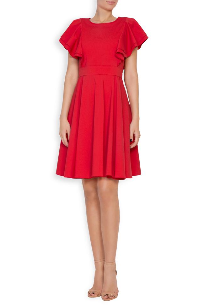 Ruffled cotton-blend mini dress Bluzat image 0