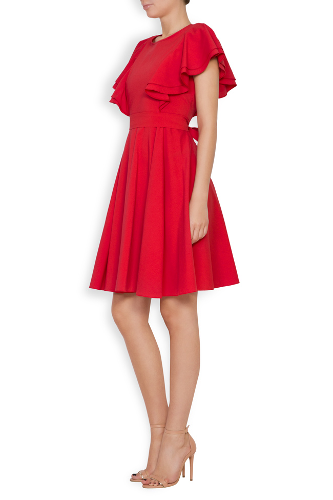 Ruffled cotton-blend mini dress Bluzat image 1