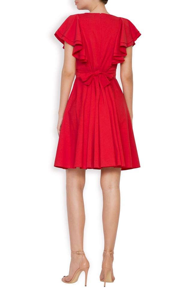 Ruffled cotton-blend mini dress Bluzat image 2