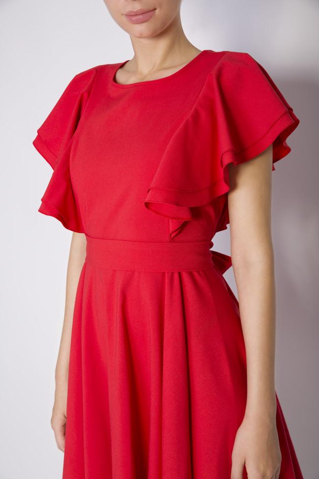 Ruffled cotton-blend mini dress Bluzat image 3