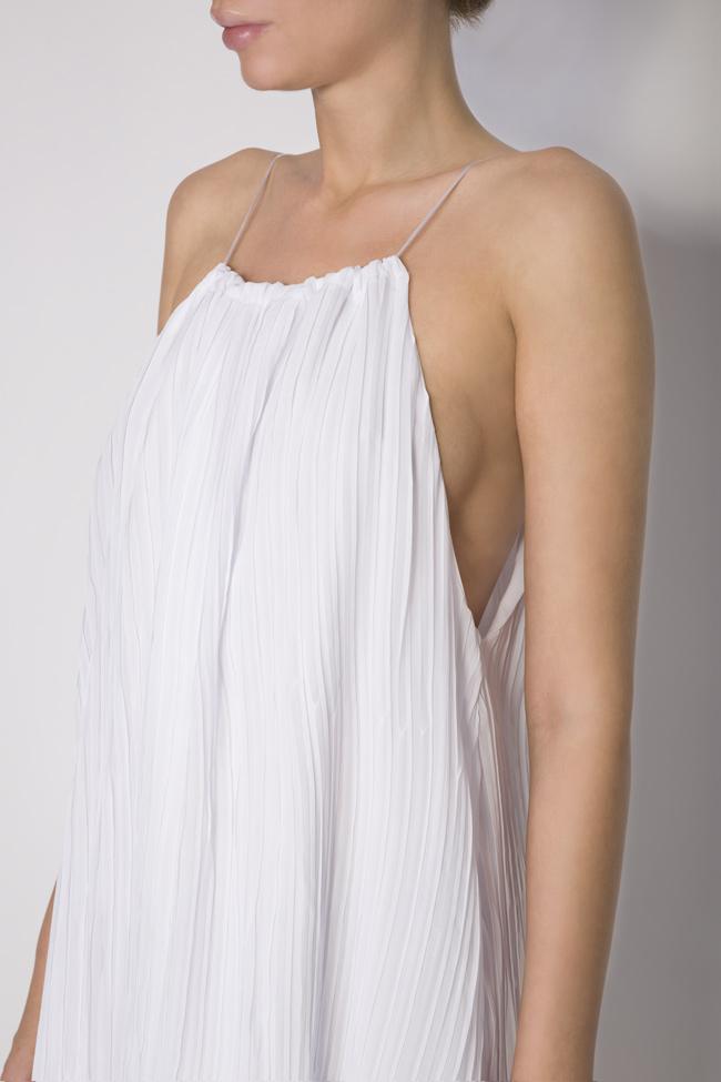 Asymmetric crepe de chine mini dress Hard Coeur image 3