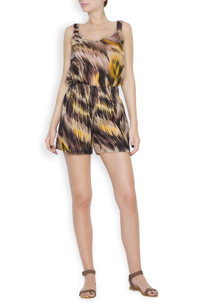 Silk-blend printed shorts Daniela Barb image 0