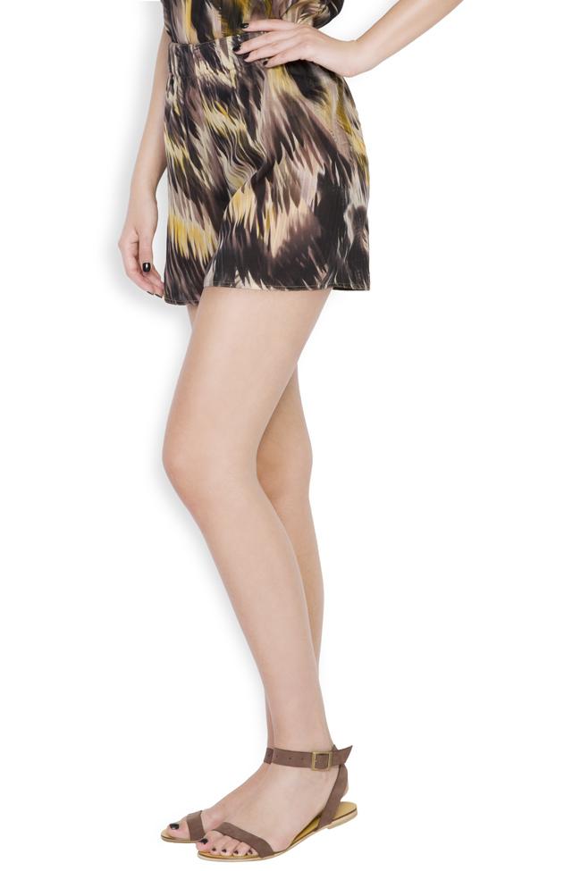 Silk-blend printed shorts Daniela Barb image 1