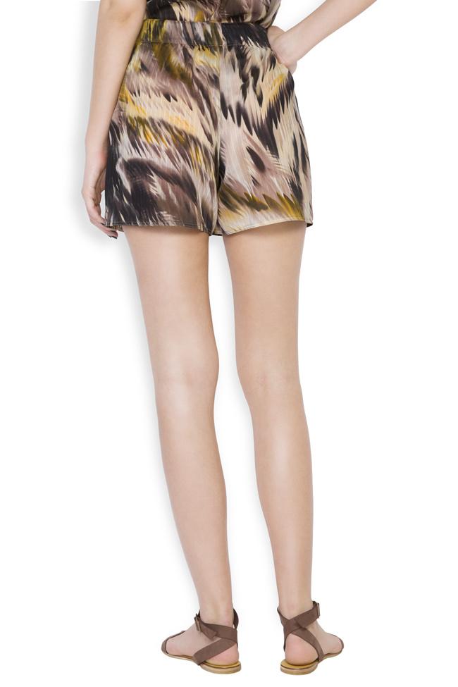 Silk-blend printed shorts Daniela Barb image 2