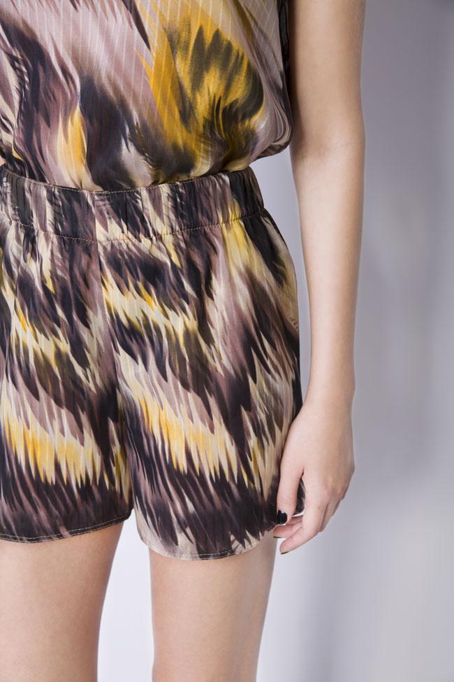Silk-blend printed shorts Daniela Barb image 3