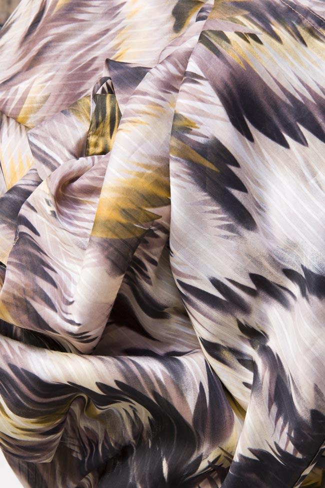 Silk-blend printed shorts Daniela Barb image 4