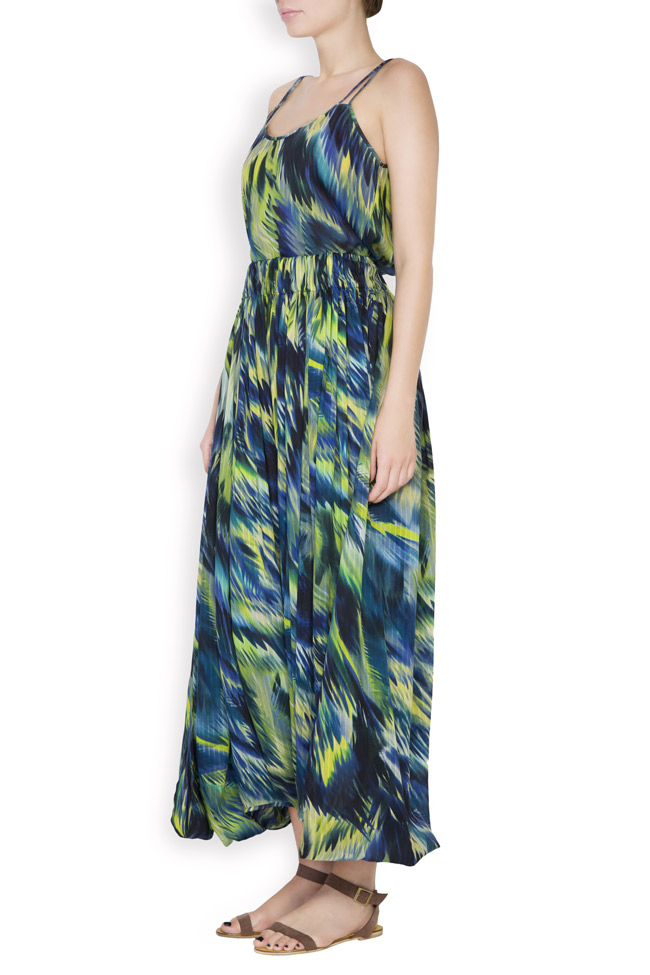 Silk-blend printed maxi skirt Daniela Barb image 1